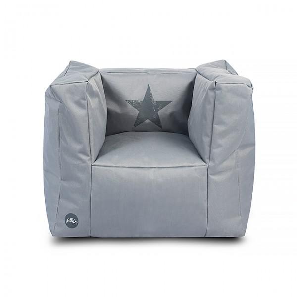 kindersessel stern grau beanbag sitzs cke sitzkissen im kinderlampenland. Black Bedroom Furniture Sets. Home Design Ideas