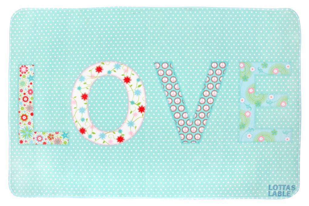 Lottas Lable Kinderteppich Love  waschbare Kinderteppiche