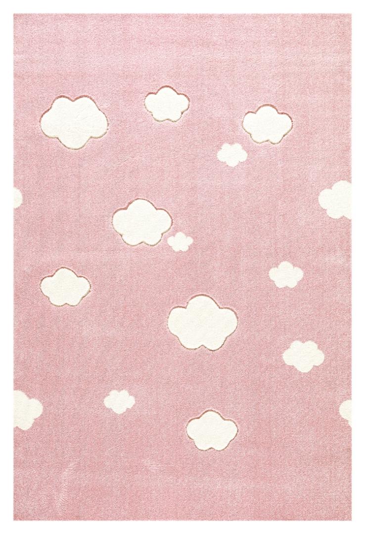 kinderteppich auf wolke 7 rosa sonstige kinderteppiche im kinderlampenland. Black Bedroom Furniture Sets. Home Design Ideas