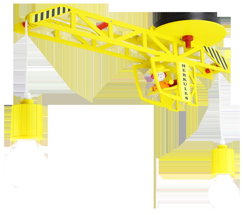 Deckenlampe Kran gelb | Pendelleuchten aus Holz oder Kunststoff im ...