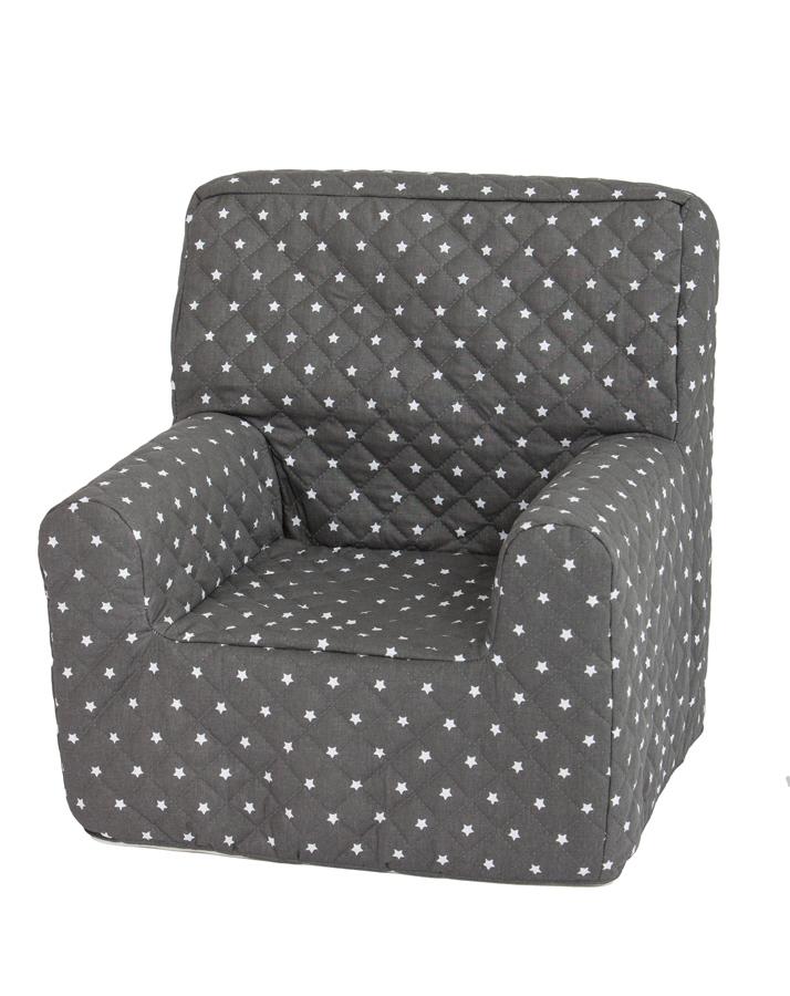 kindersessel grau sterne williamflooring. Black Bedroom Furniture Sets. Home Design Ideas