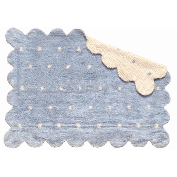 lorena canals kinderteppich galleta blau beige waschbare kinderteppiche im. Black Bedroom Furniture Sets. Home Design Ideas