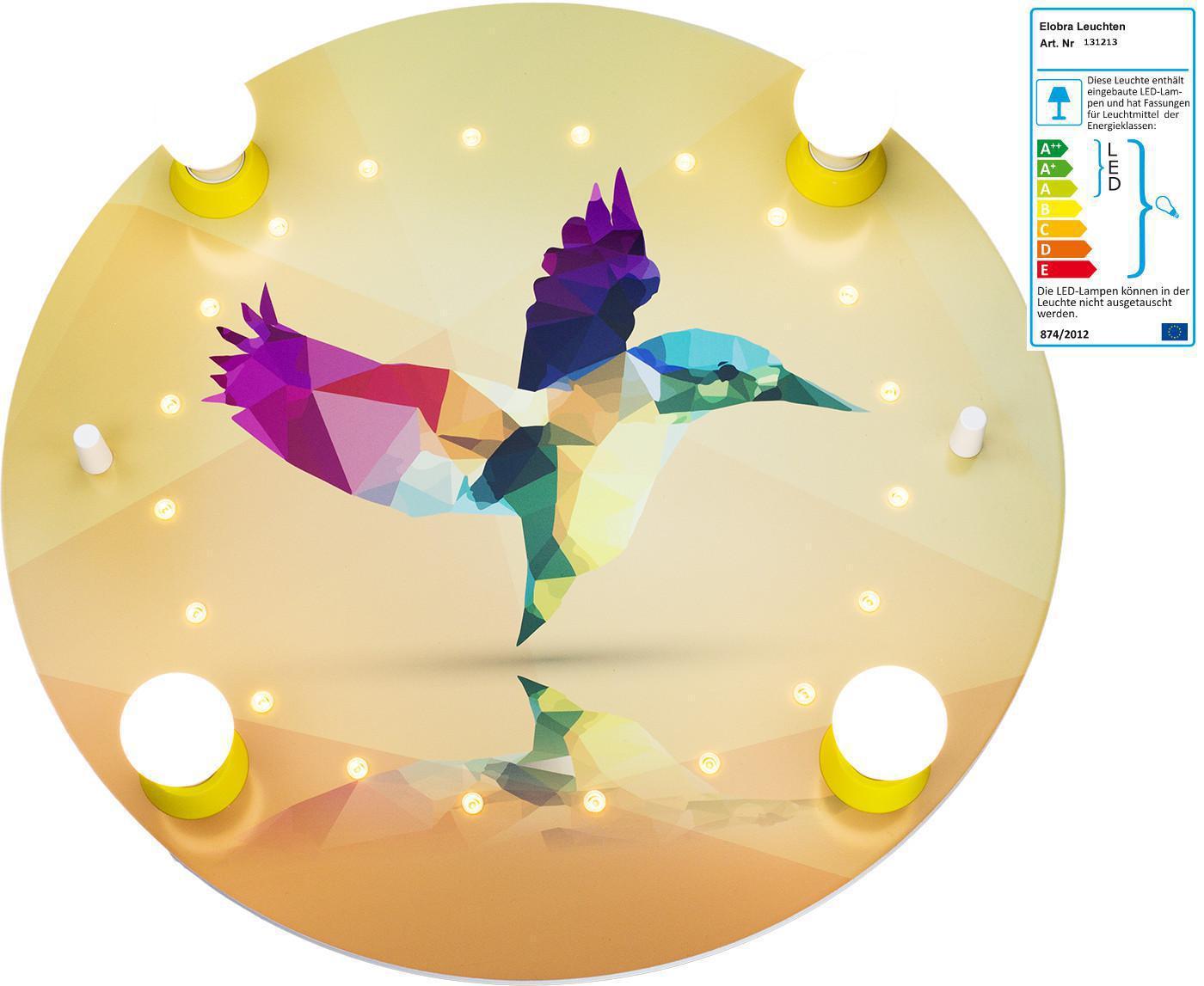 elobra led deckenlampe kolibri gelb elobra kinderleuchten im kinderlampenland. Black Bedroom Furniture Sets. Home Design Ideas