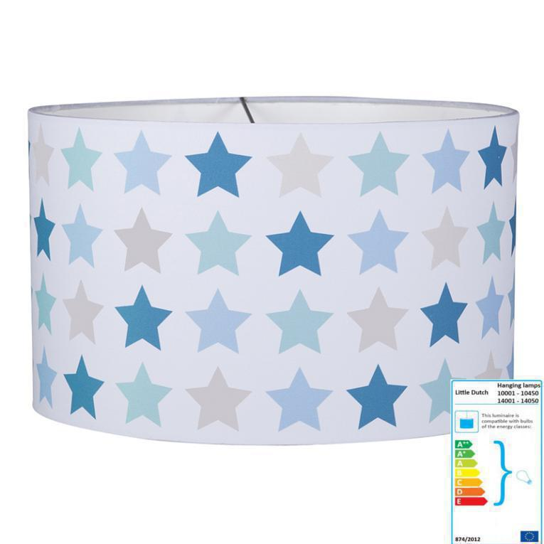 Kinderzimmerleuchte Stern blau/beige | Pendelleuchten mit Stoff ...