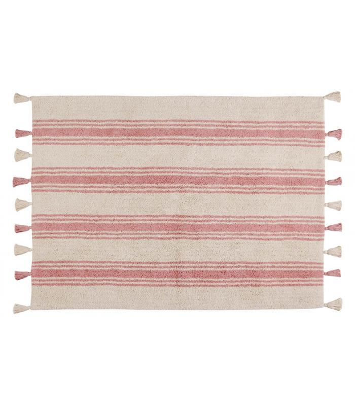 lorena canals teppich streifen rosa lorena canals im kinderlampenland kaufen. Black Bedroom Furniture Sets. Home Design Ideas