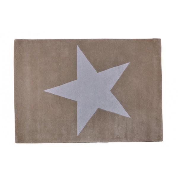 lorena canals kinderteppich gro er stern beige hellgrau lorena canals teppiche. Black Bedroom Furniture Sets. Home Design Ideas