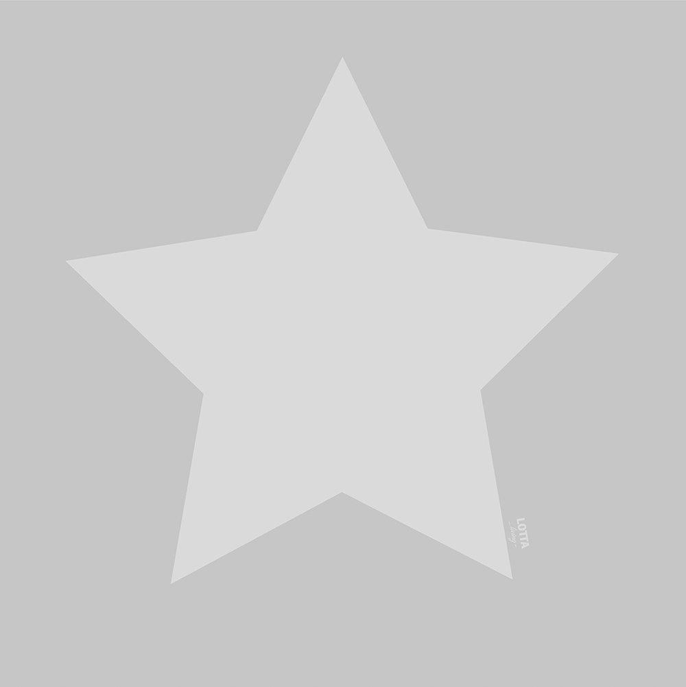 lotta lable teppich softie stern grau 130 x 130 cm waschbare kinderteppiche. Black Bedroom Furniture Sets. Home Design Ideas