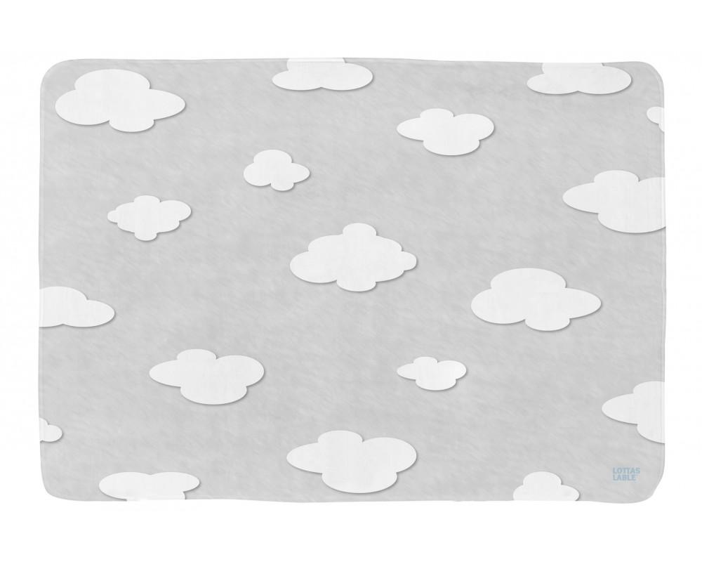 Lottas Lable Kinderteppich Wolken Sky Edition grau im