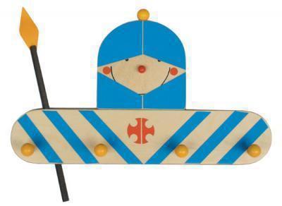 kindergarderobe ritter aus holz kindergarderoben im kinderlampenland kaufen. Black Bedroom Furniture Sets. Home Design Ideas