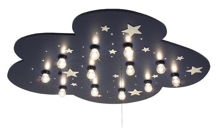 niermann deckenlampe millenium wolke blau led kinderlampen im kinderlampenland. Black Bedroom Furniture Sets. Home Design Ideas