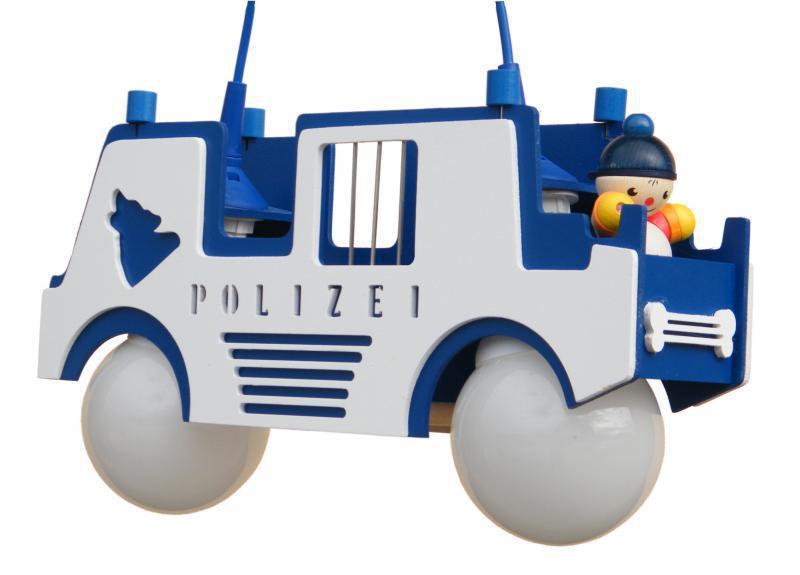 Elobra Pendelleuchte Polizeiauto blau   Pendelleuchten aus Holz oder ...