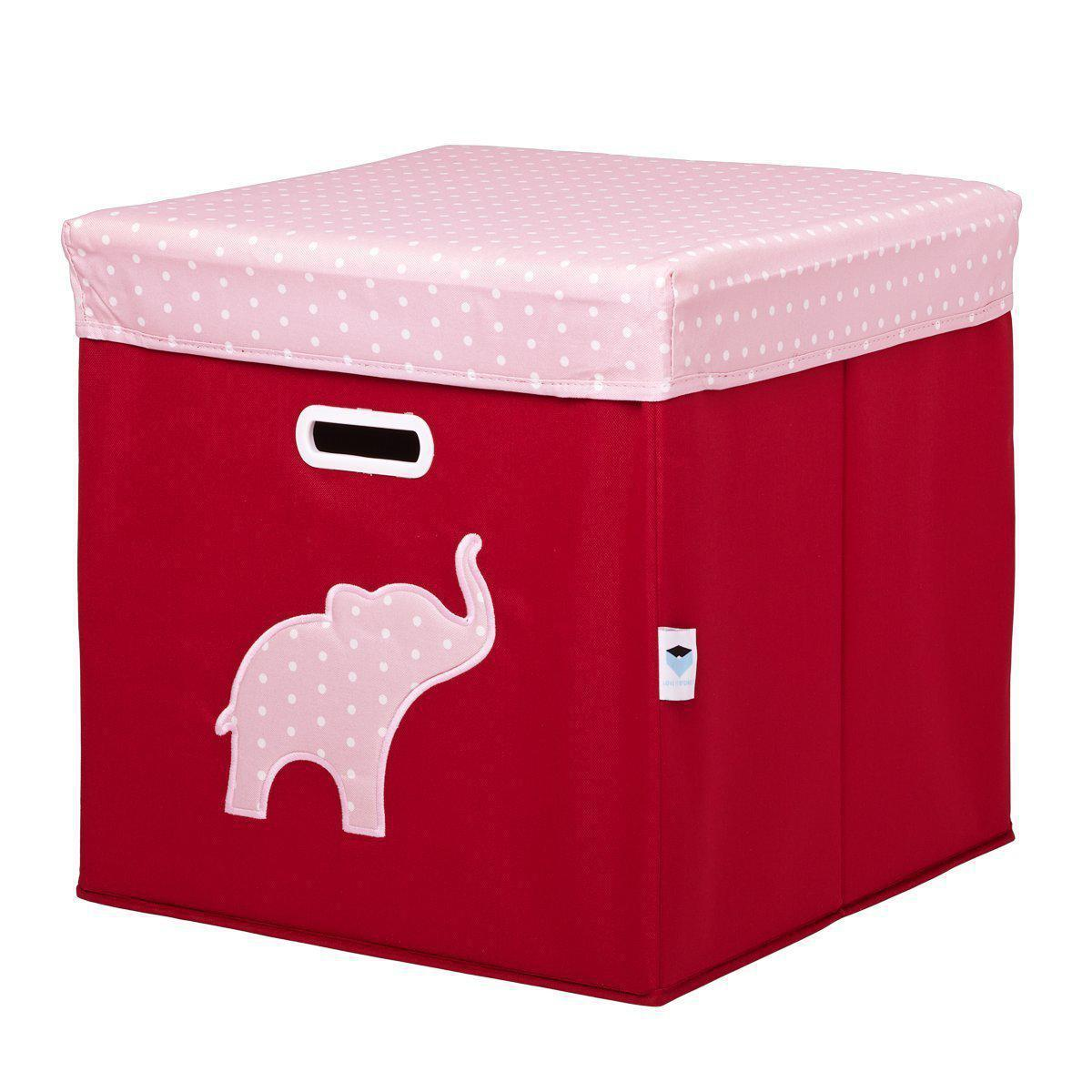 Spielzeugtruhe elefant rot rosa groß ordnung im