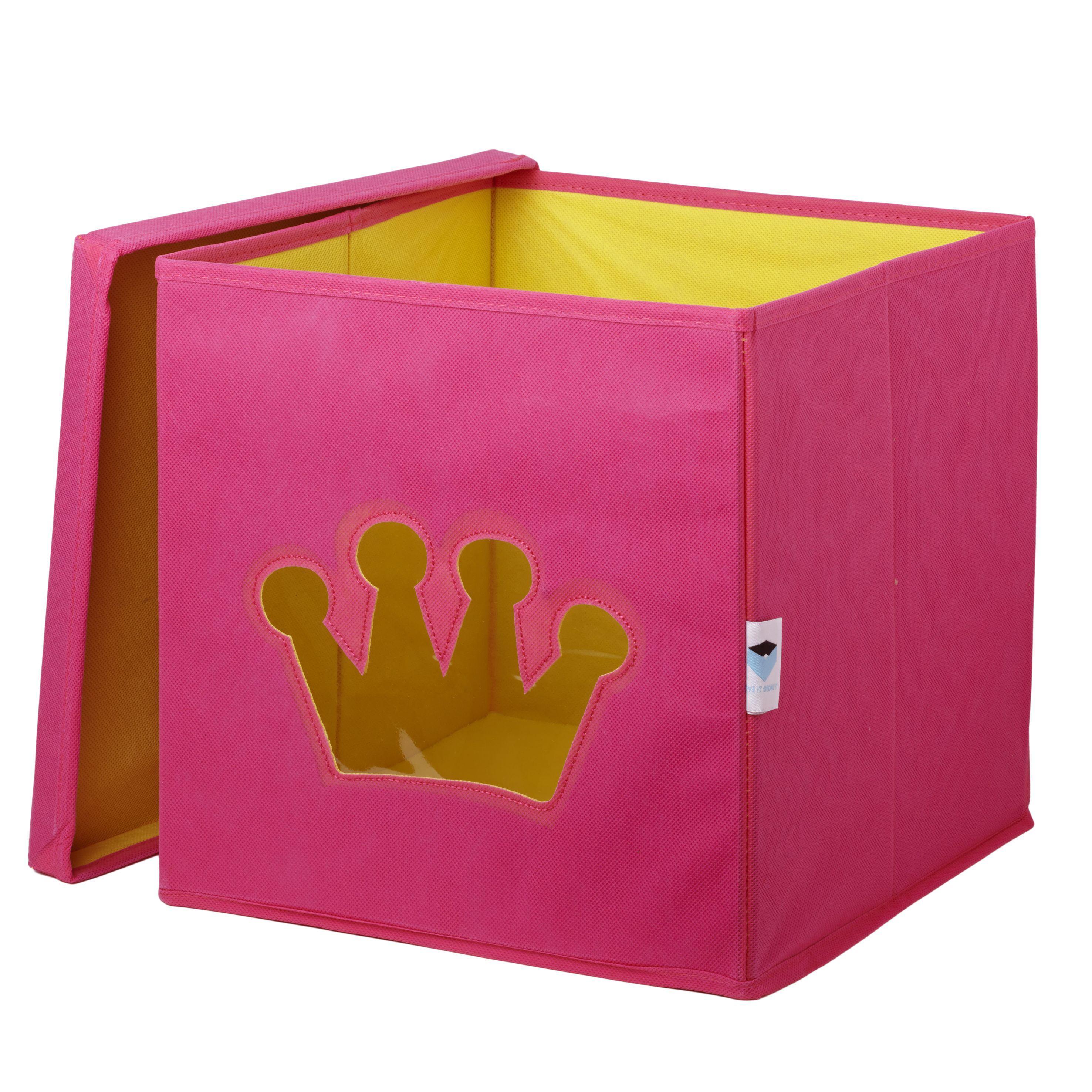 spielzeugkiste krone pink ordnung im kinderzimmer. Black Bedroom Furniture Sets. Home Design Ideas