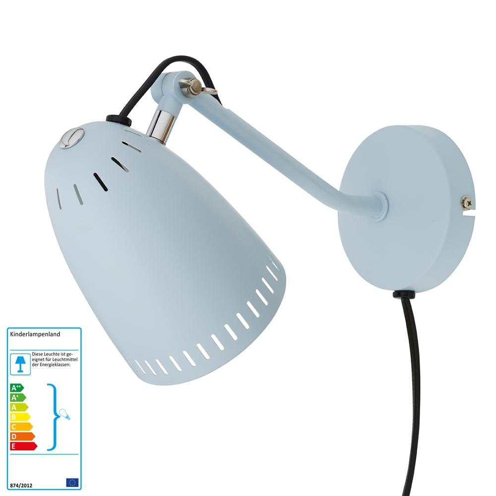 superliving wandlampe hellblau matt neu im kinderlampenland kaufen. Black Bedroom Furniture Sets. Home Design Ideas