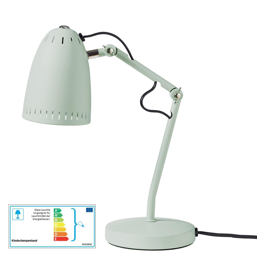 superliving schreibtischlampe misty green matt schreibtischlampen im kinderlampenland. Black Bedroom Furniture Sets. Home Design Ideas