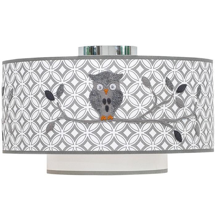 taftan deckenlampe eule grau sonstige kinderlampen. Black Bedroom Furniture Sets. Home Design Ideas