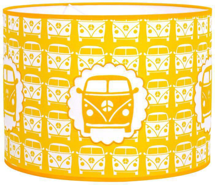 taftan pendelleuchte bus gelb pendelleuchten mit stoff. Black Bedroom Furniture Sets. Home Design Ideas