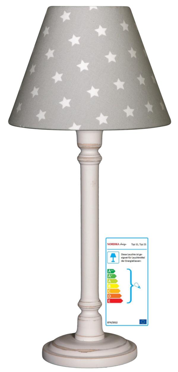 tischlampe sterne grau wei gro tischleuchten im kinderlampenland kaufen. Black Bedroom Furniture Sets. Home Design Ideas