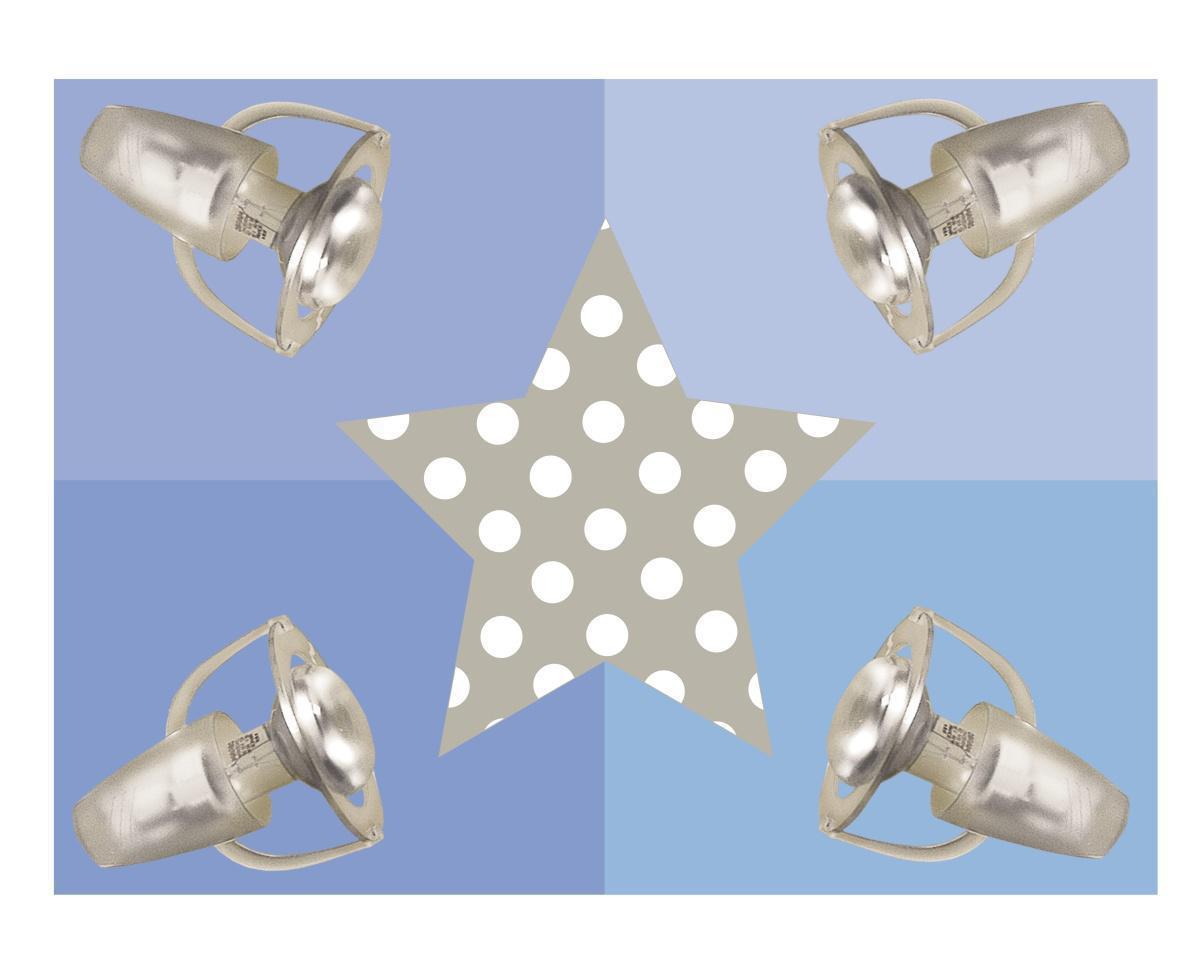 waldi deckenleuchte stern grau blau strahler kinderlampen im kinderlampenland. Black Bedroom Furniture Sets. Home Design Ideas