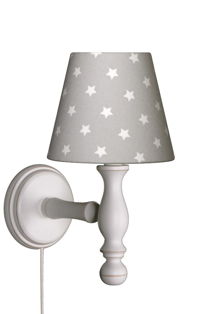 wandlampe sterne grau wei wandlampen. Black Bedroom Furniture Sets. Home Design Ideas