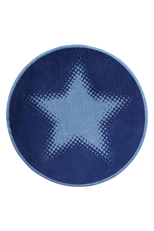 kindereppich stern blau rund weconhome teppiche im. Black Bedroom Furniture Sets. Home Design Ideas