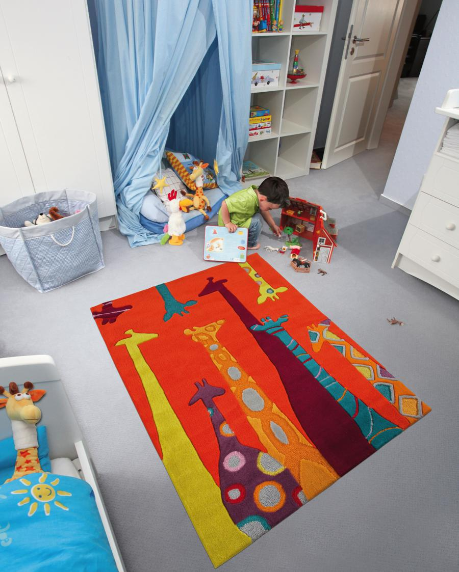 arte espina kinderteppich bunte giraffen kids im kinderlampenland kaufen. Black Bedroom Furniture Sets. Home Design Ideas