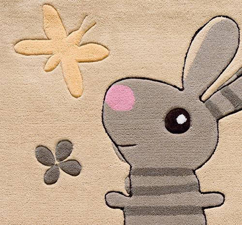Arte Espina Teppich Tiere rosabeige  Kids im