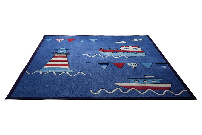 Kinderteppich dunkelblau  Esprit Kinderteppich Captains World Größe | Esprit Teppiche