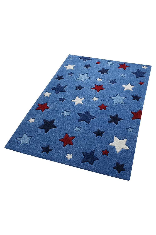 Kinderteppich sterne blau  Teppich Sterne blau | Smart Kids im Kinderlampenland kaufen