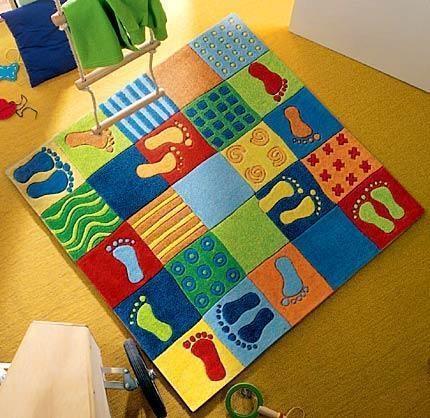 Haba teppich  HABA Kinderteppich Füße 2883 | HABA Teppiche im Kinderlampenland ...