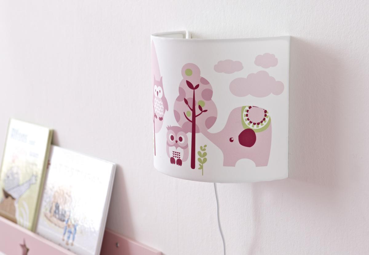 Wandlampe eule rosa pumpkin wandlampen im - Wandlampe babyzimmer ...
