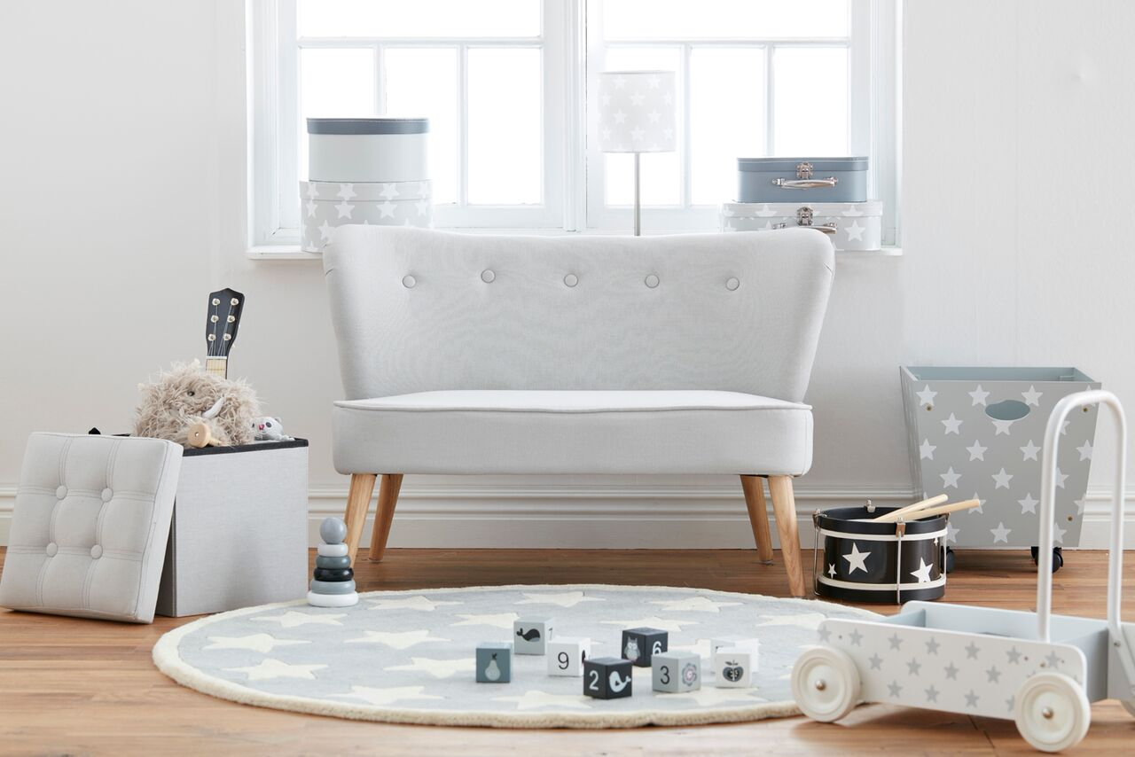 kindersofa leinen grau kindersofa kindersessel im. Black Bedroom Furniture Sets. Home Design Ideas