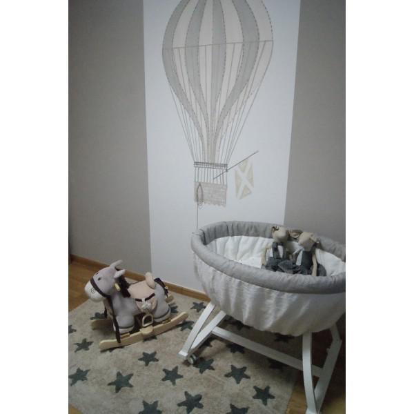 lorena canals kinderteppich beige mit dunkelgrauen sternchen waschbare kinderteppiche. Black Bedroom Furniture Sets. Home Design Ideas