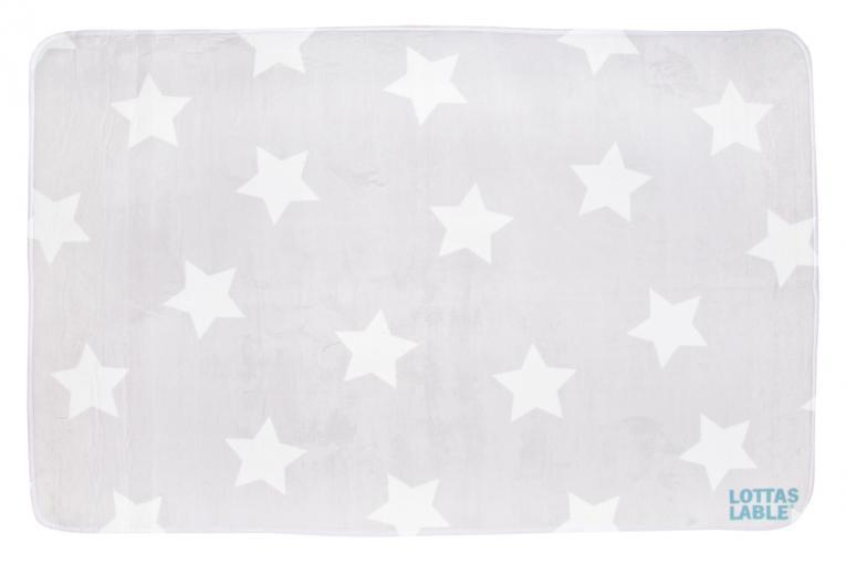 Lottas Lable Kinderteppich Sterne Grau  Lottas Lable im