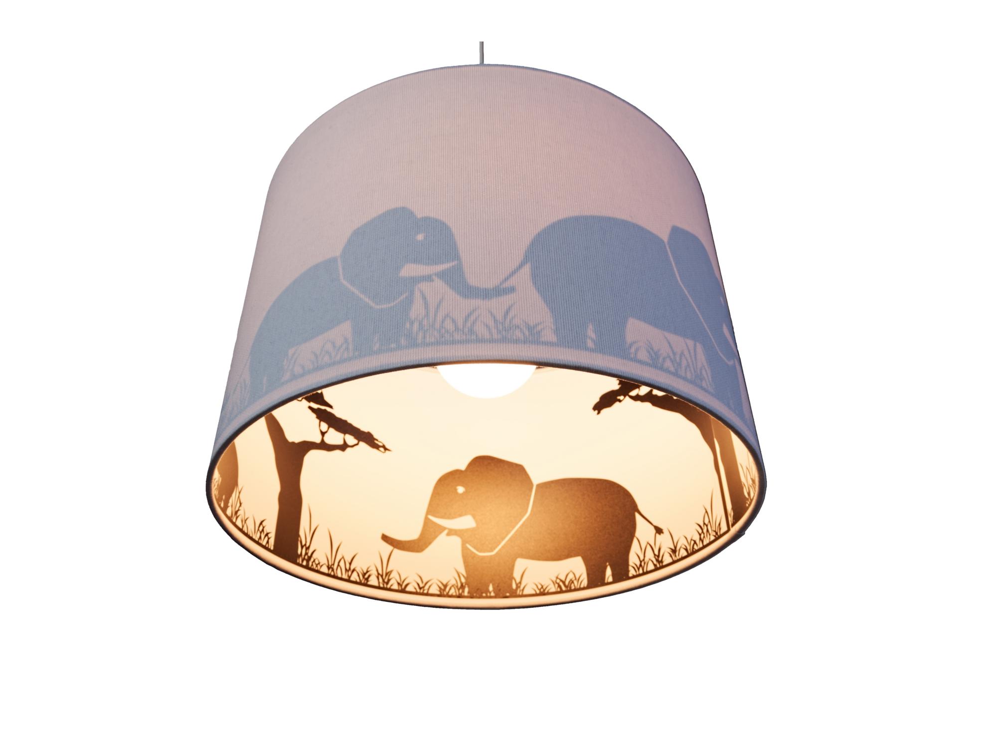 Waldi Pendelleuchte Elefant Silhouette Grau