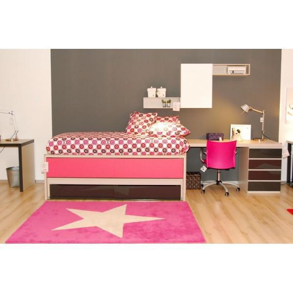 lorena canals kinderteppich gro er stern fuchsia wei. Black Bedroom Furniture Sets. Home Design Ideas