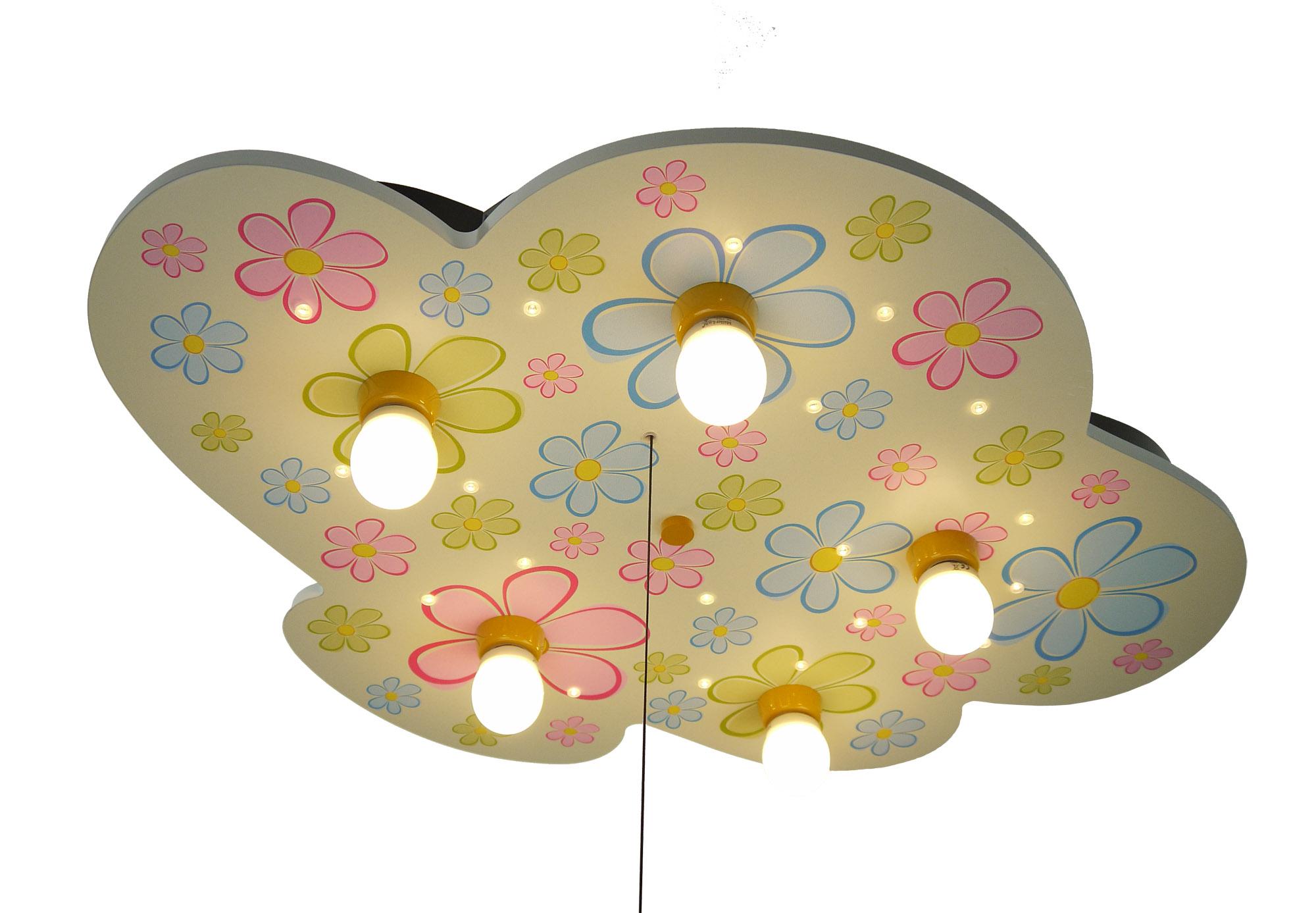 led kinderlampe flower power bunte blumen led kinderlampen im kinderlampenland. Black Bedroom Furniture Sets. Home Design Ideas