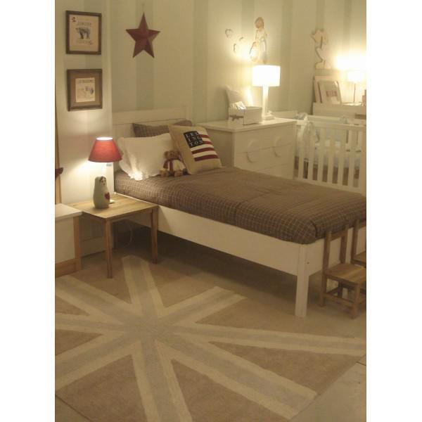 lorena canals kinderteppich englische flagge grau lorena canals teppiche. Black Bedroom Furniture Sets. Home Design Ideas