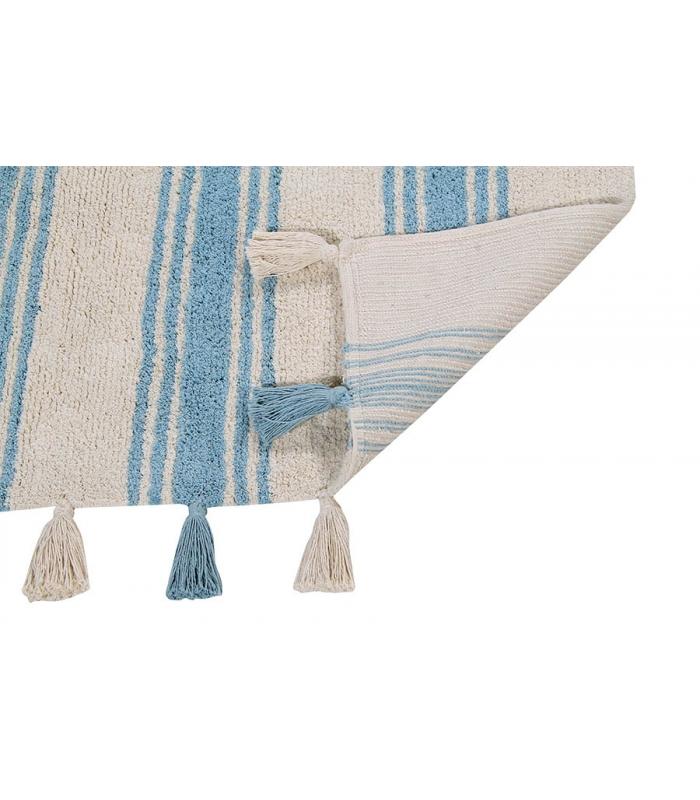 Lorena Canals Teppich Streifen hellblau  Lorena Canals