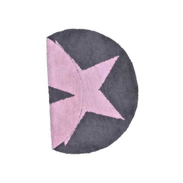 lorena canals kinderteppich stern rund rosa grau lorena canals teppiche im. Black Bedroom Furniture Sets. Home Design Ideas