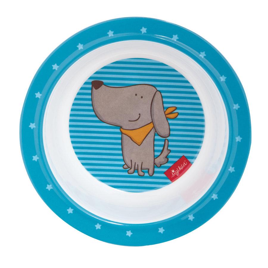kila25105-3teilig Sigikid Melamin Geschirr-Set Hund H/ügge Hug Taufgeschenk Tasse Sch/üssel Teller