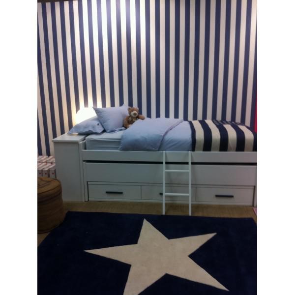 Kinderteppich dunkelblau  Lorena Canals Kinderteppich großer Stern dunkelblau weiß | Lorena ...