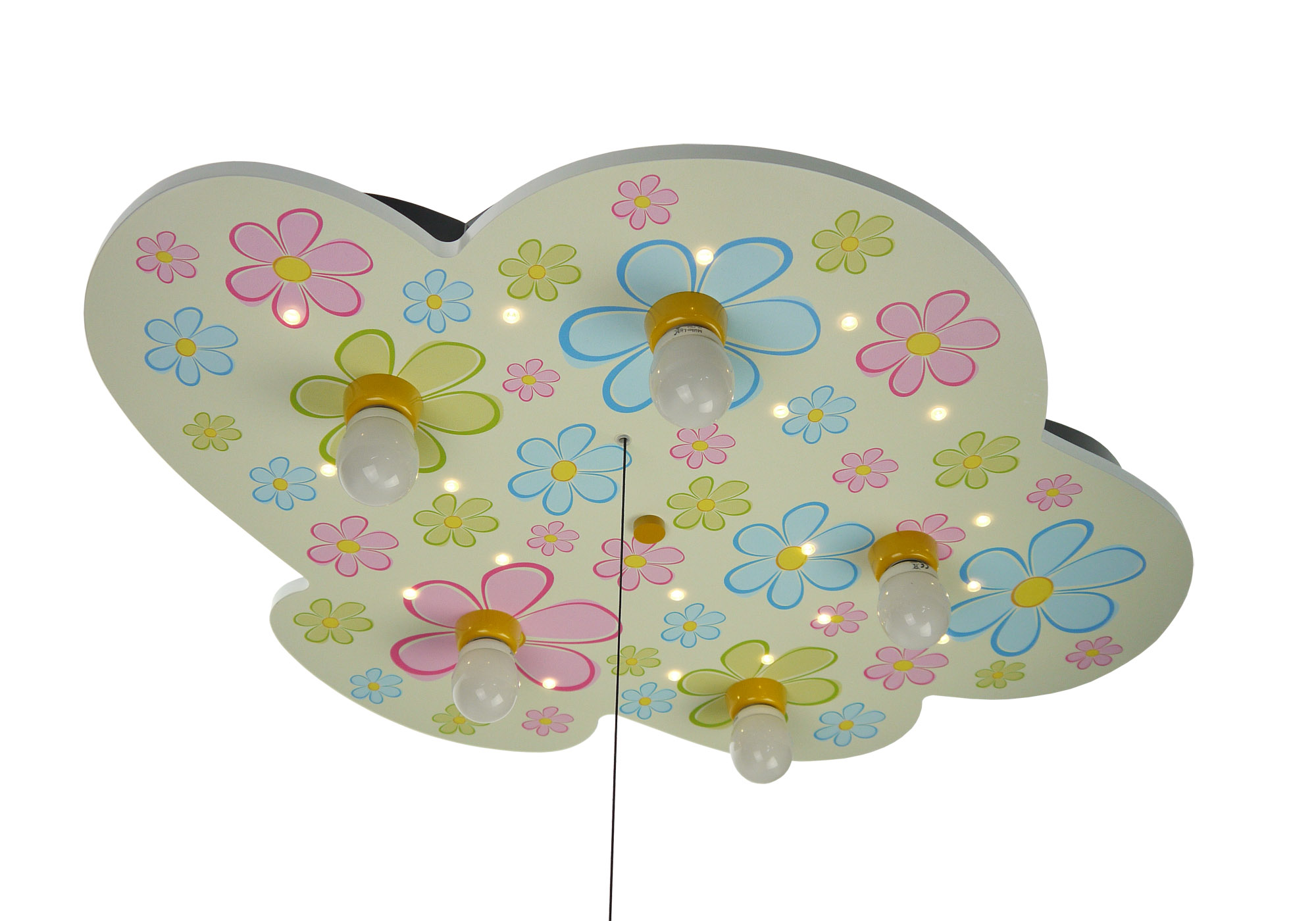 led kinderlampe flower power bunte blumen led. Black Bedroom Furniture Sets. Home Design Ideas