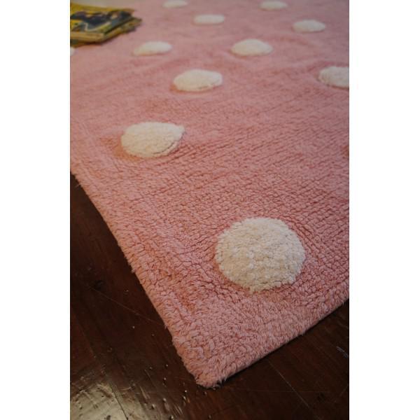 Kinderteppich rosa  Lorena Canals Kinderteppich Punkte rosa | waschbare Kinderteppiche ...
