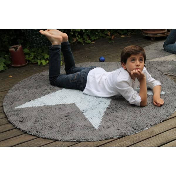 Kinderteppich sterne rund  Lorena Canals Kinderteppich Stern rund hellblau | Lorena Canals ...