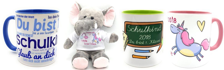 Schulkind 2018 - Personalisierte Geschenkideen zur Einschulung